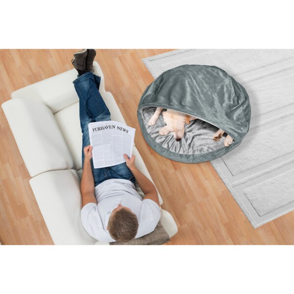 Furhaven Microvelvet Snuggery Burrow Pet Bed 19303770