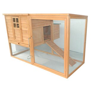 Pawhut Outdoor 64-inch Chicken Coop with Nesting Box and Outdoor Run