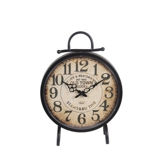 Metal Roman Numerals Accent Clock 18677345 Overstock