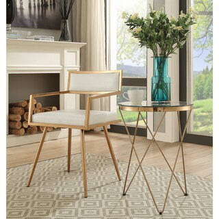 Sunpan Ikon Maiden White Stainless Steel Dining Chair