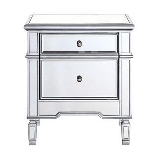 Abbyson Living Valentino Mirrored 2 Drawer Nightstand