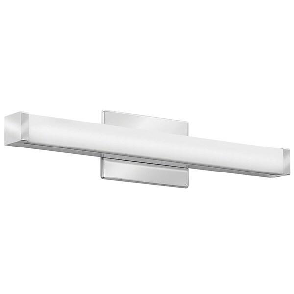 Lithonia Lighting Contemporary Square White Acrylic Chrome ...