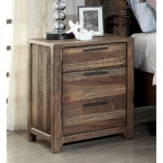 Furniture of America Amber Contemporary Rustic 2-drawer Nightstand