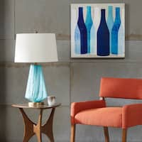 Ink+Ivy Waves Blue Glass Table Lamp