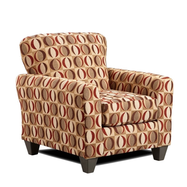 Sofa Trendz Cree Brown/Red/Cream Polyester Accent Chair