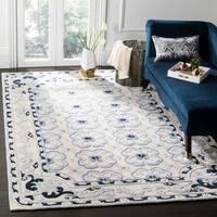 Safavieh Handmade Bella Ivory / Blue Wool Rug - 8' x 10'