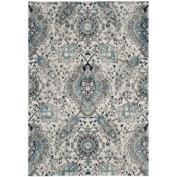 Safavieh Madison Bohemian Cream Light Grey Rug 9 X 12