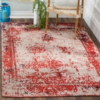 Safavieh Classic Vintage Red Cotton Abstract Distressed Rug - 4' x 6'