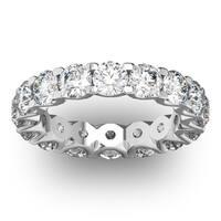 14 Karat White Gold 4 Carat Diamond Eternity Ring - White I-J