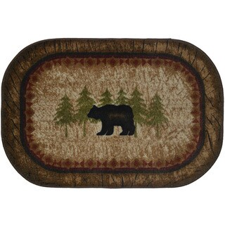 Welcome To The Cabin Nonskid Kitchen Accent Mat Rug