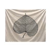 E by Design Leaf Study Floral Print Tapestry