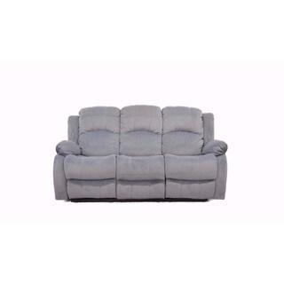 Traditional Brown Brush Microfiber Reclining Sofa