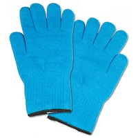 Extra Thick Blue Heat-resistant Oven Glove Mitt Pot Holders (Set of 2)
