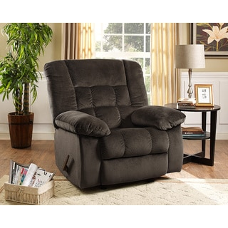 Massaging Microfiber Recliner With Heat Control 17464636