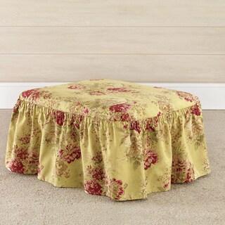 Sure Fit Ballad Bouquet Multicolor Cotton 2-piece Ottoman Slipcover