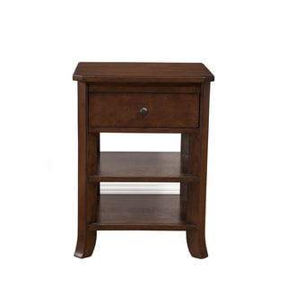 Handmade Rosewood Nightstand With Forged Iron Hardware
