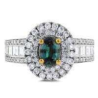 18k White or Yellow Gold Fine Brazilian Alexandrite and 1 1/3 ct TDW Diamond Ring by La Vita Vital