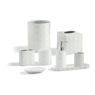 Porcelain Palm Bathroom Accessory Collection