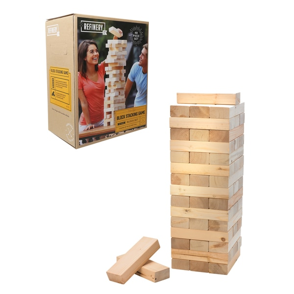 Refinery Wood Block Stacking Game