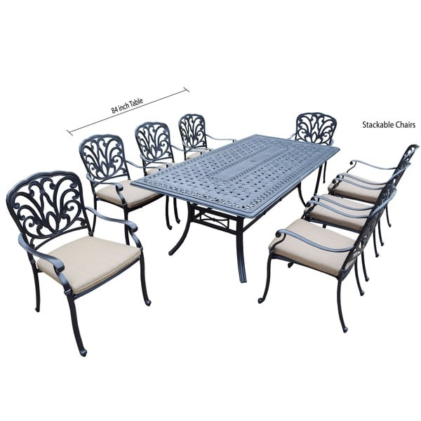Outdoor creative living monte carlo 13 piece cube dining set for 13 piece dining table set