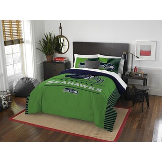 The Northwest Company NFL Seattle Seahawks Draft Full/Queen 3-piece Comforter Set