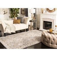 Safavieh Bella Contemporary Handmade Light Grey/ Multi Wool Rug - 5' x 8'