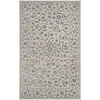 Safavieh Handmade Glamour Floral Silver/ Ivory Viscose Area Rug - 2' x 3'