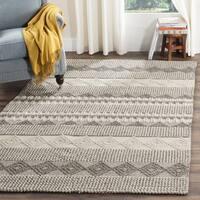 Safavieh Natura Handmade Bohemian Grey/ Ivory Wool Rug - 9' x 12'