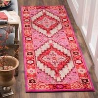 Safavieh Bellagio Handmade Bohemian Red/ Pink Wool Rug - 8' x 10'