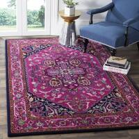 Safavieh Bellagio Handmade Bohemian Pink/ Navy Wool Rug - 2'6 x 4'