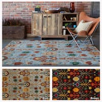 "Artist's Loom Hand-Tufted Contemporary Ikat Pattern Rug (7'9""x10'6"")"