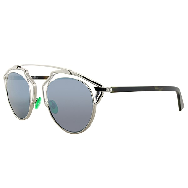 8feaf95fa69a Dior Dior So Real NSY T7 Palladium Havana Metal Aviator Blue Mirror Lens  Sunglasses