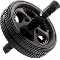 PharMeDoc Ab Roller Exercise Wheel Abdominal Carver w/ Reinforced Steel Handles Strengthen and Tone Core