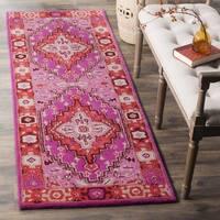 Safavieh Bellagio Handmade Bohemian Red/ Pink Wool Runner Rug - 2' 3 x 7'