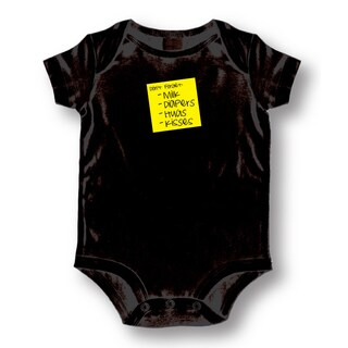 Don't Forget Milk, Diapers, Hugs, Kisses' Black Baby One Piece