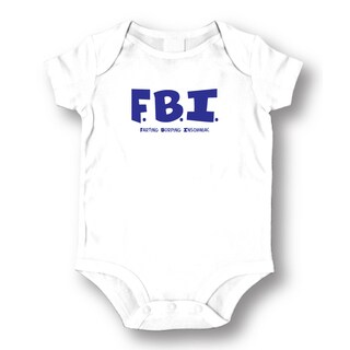 Babies' White 'FBI' Bodysuit One-piece