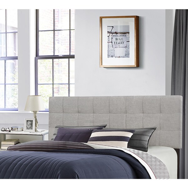 reputable site ecb52 c54e4 Hillsdale Furniture Delaney Glacier Grey Fabric Wood Full Queen Headboard