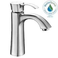 ANZZI Rhythm Series Single Hole Single-handle Mid-arc Bathroom Faucet in Brushed Nickel