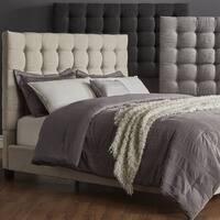 Briella Button Tufted Linen Upholstered Platform Bed iNSPIRE Q Modern