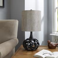 The Clove Black Table Lamp with Shade
