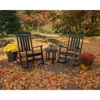 POLYWOOD Presidential 3-Piece Outdoor Rocking Chair Set with Round Table