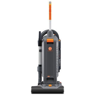 Hoover Commercial HushTone Vacuum Cleaner with Intellibelt 15 inches Orange/Grey
