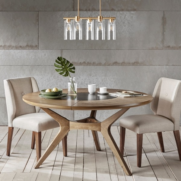 Ink Ivy Metro Natural Oak Round Dining Table N A 846