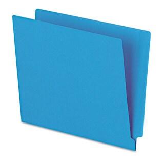 Pendaflex Reinforced End Tab Folders Two Ply Tab Letter Blue 100/Box
