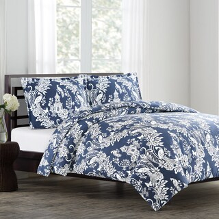 Pagoda Cotton Sateen 3-Piece Duvet Cover Set