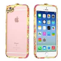 Insten Colorful Hard Snap-on Rubberized Matte Bumper Frame with Diamond For Apple iPhone 6/ 6s