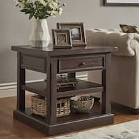 Jenson Espresso Wood 1-Drawer End Table by iNSPIRE Q Classic