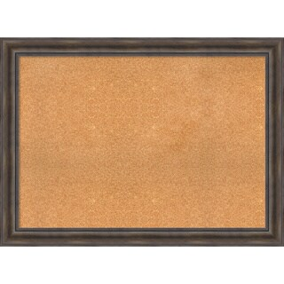 Framed Cork Board, Choose Your Custom Size, Rustic Pine Wood