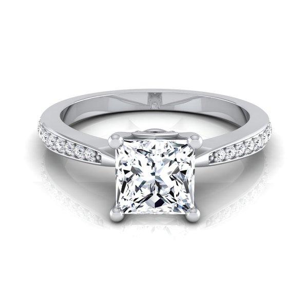 14k White Gold 1 1/8ct TDW White Diamond Engagement Ring
