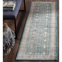Safavieh Sofia Vintage Blue/ Beige Distressed Area Rug Runner - 2'2 X 12'